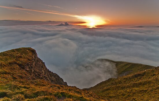 Mam Tor Inversion Sunrise by James Grant
