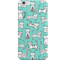 Cats with Stripes in Mint iPhone Case/Skin