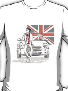 Mini car and Union Jack  T-Shirt