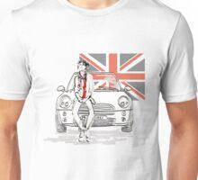 Mini car and Union Jack  Unisex T-Shirt