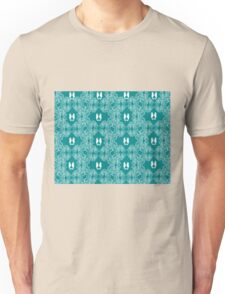 Teal n White Abstract Seahorse Sketch Unisex T-Shirt