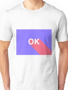 OK // purple and pink Unisex T-Shirt