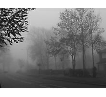 Foggy suburbia Photographic Print