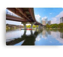 August Summer at Lady Bird Lake in Austin Texas 1 Canvas Print