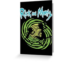 Rick and Morty Space Greeting Card