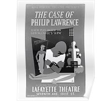WPA United States Government Work Project Administration Poster 0430 The Case of Philip Lawrence Lafayette Theatre Poster