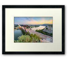 360 Bridge Sunset over Austin in August 2 Framed Print