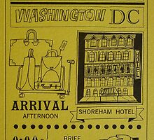 Vintage D.C. Event Ticket by heatherhippo