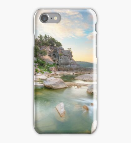 Texas Hill Country Morning in August 1 iPhone Case/Skin