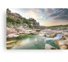 Texas Hill Country Morning in August 1 Canvas Print