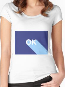 OK II // blue and more blue Women's Fitted Scoop T-Shirt