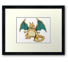 Charizards Camp Fire Framed Print