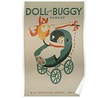 WPA United States Government Work Project Administration Poster 0512 Doll and Buggy Parade Poster