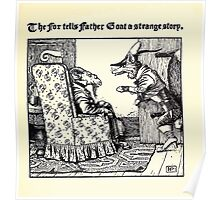 The Wonder Clock Howard Pyle 1915 0307 The Fox Tells Father goat a Strange Story Poster