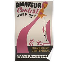 WPA United States Government Work Project Administration Poster 0492 Amateur Contest Du Page County Centennial Warrenville Poster