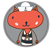 Nautical Adventures: Sailor Cat Photographic Print