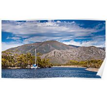 Yacht, South West Tasmania, World Heritage Area Poster