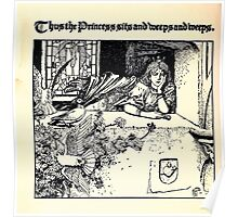 The Wonder Clock Howard Pyle 1915 0032 Thus the Princess Weeps and Weeps Poster
