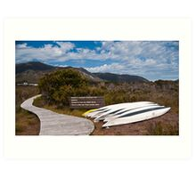 Welcome Kayaks, South West Tasmania, World Heritage Area Art Print
