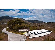 Welcome Kayaks, South West Tasmania, World Heritage Area Photographic Print