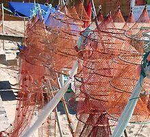 Fishnets, Nazare portugal by Aurora Vaz