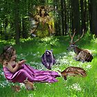 Forest Gathering by Sharksladie
