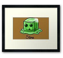 Slime Minecraft Framed Print