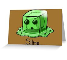 Slime Minecraft Greeting Card