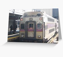 INBOUND Commuter Rail side with Amtrak Bell Sound Greeting Card