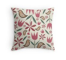 Garden Frolic Throw Pillow