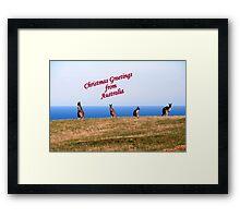 Christmas Greetings from Australia. Framed Print