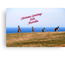 Christmas Greetings from Australia. Canvas Print