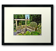 The marble charm in old park Framed Print