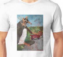 Penguin walking a dog Unisex T-Shirt