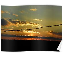Sunset Under the Barbed Wire Poster