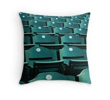 Green Seats Throw Pillow