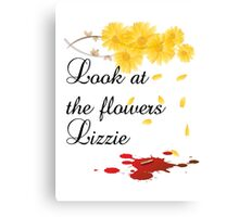 Look at the flowers Lizzie Canvas Print