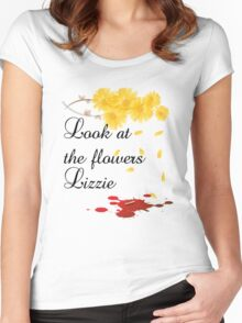 Look at the flowers Lizzie Women's Fitted Scoop T-Shirt