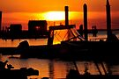 Sunset on Delaware Bay by Kim McClain Gregal