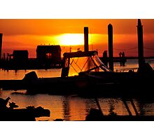 Sunset on Delaware Bay Photographic Print