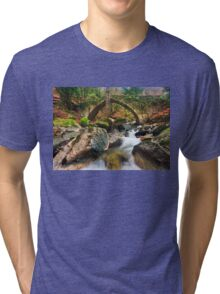 The old stone bridge of Tsagarada Tri-blend T-Shirt