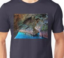 Swimming in the sea caves of Crete Unisex T-Shirt