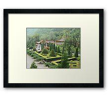 China Garden Framed Print