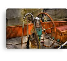 at the helm Canvas Print