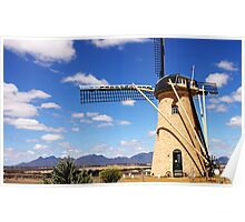 Windmill in the ranges Poster