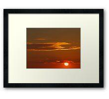 Sunken Sun Framed Print