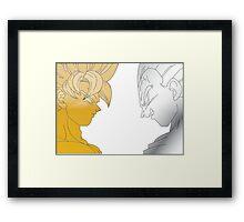 Goku Vegeta Framed Print