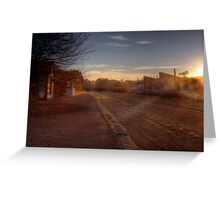 No Stops! - Old Nairne Railway Station, Adelaide Hills Greeting Card