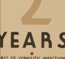 WPA United States Government Work Project Administration Poster 0889 The First Two Years Syphilitic Syphilis Infection Relaps Sticker