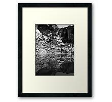 Canyon Wall Reflection at Lake Powell ~ Black & White Framed Print